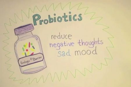 Less focused on recurrent bad feelings through probiotics