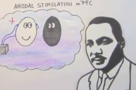 Reducing prejudice through brain stimulation